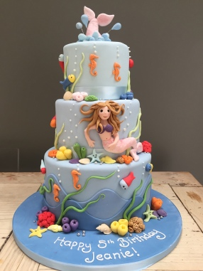 3 Tiered Mermaid Cake